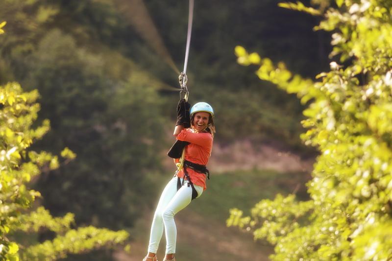Активный отдых в Карпатах - zipline : Фото 1