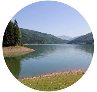 Ольшанское водохранилище недалеко от села Колочава