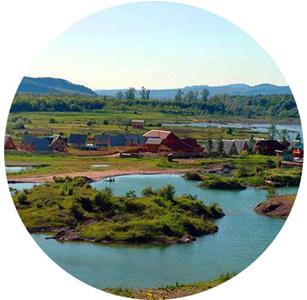 Озеро Кунигунда в поселке городского типа Солотвино